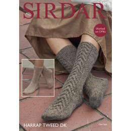 S8010 Socks for Women in Sirdar Harrap Tweed DK