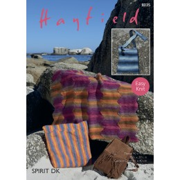 S8035 Blanket, Cushion and Bag in Hayfield Spirit DK