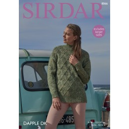 S8066 Jumper for Women in Sirdar Dapple DK