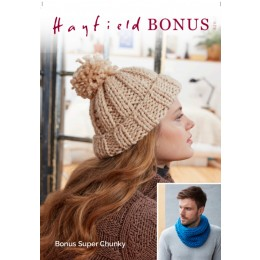 S8211 Bobble Hat & Snood in Hayfield Bonus Super Chunky