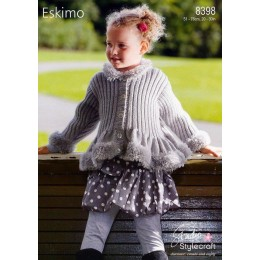 ST8398 Girl's Cardigan in Stylecraft Eskimo and Special DK