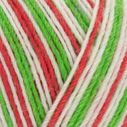 West Yorkshire Spinners Signature 4Ply 100g Candy Cane 989