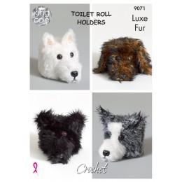 KC9071 Animal Head Toilet Roll Holders in King Cole Luxe Fur