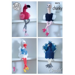KC9072 Crochet Bird Toilet Roll Holders in King Cole Big Value Chunky