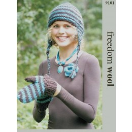 TRT9101 Scarf & Mittens in Twilley's Freedom Pure Chunky Wool