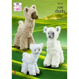 KC9115 Alpacas in King Cole Tufty Super Chunky