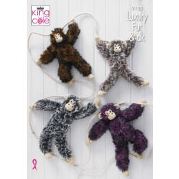 KC9125 King Cole Luxury Fur Chimpanzees