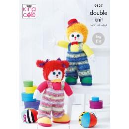 KC9127 Splishy & Splashy Clowns in King Cole Splash, Moments & Dollymix DK