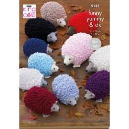 KC9135 Hedgehogs in King Cole Funny Yummy Super Chunky