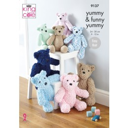 KC9137 Teddies in King Cole Yummy & Funny Yummy