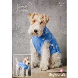 St9311 Dog Snowflake Coat and Hat Christmas Pattern Special DK