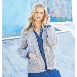 St9618 Ladies Sweater and Cardigan in Monet Aran & Jeanie