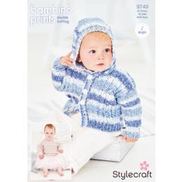 ST9749 Babies Jumper & Hoodie in Stylecraft Bambino Prints DK