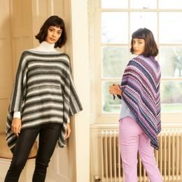 ST9781 Ladies' Crochet Poncho & Shawl in Stylecraft Cabaret DK
