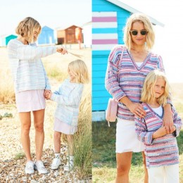 ST9823 Ladies & Girls Round Neck and V Neck Sweater in Stylecraft You & Me