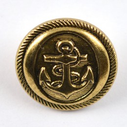 Anchor Shank Button in Gold