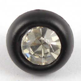Diamante Button with solid surround