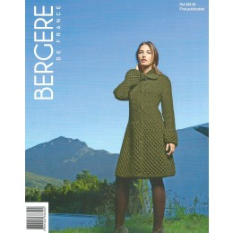 Bergere de France Coat for Women in Magic Plus Leaflet 40