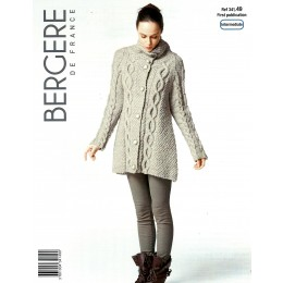 Bergere de France Jacket for Women in Alaska Leaflet 49