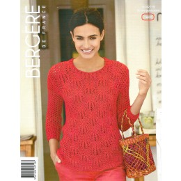 Bergere de France Sweater for Women in Coton Fifty Leaflet 19