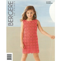 Bergere de France Crochet Dress for Children in Coton Fifty Leaflet 20
