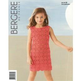 Bergere de France Crochet Dress for Children in Coton Fifty Leaflet 20