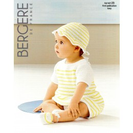 Bergere de France Dress and Hat for Babies in Coton Fifty Leaflet 23