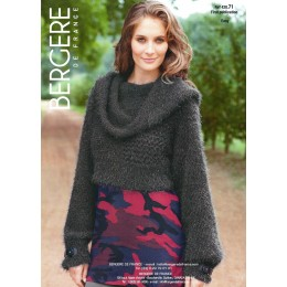Bergere de France Jumper for Women in Plume Leaflet 71