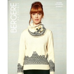 Bergere de France Jumper and Cowl for Women in Ideal Leaflet 83