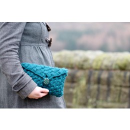 Baa Ram Ewe Patina Clutch Bag in Dovestone