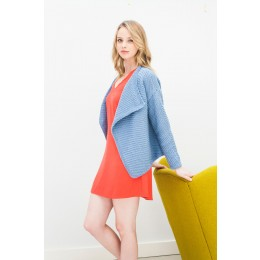 DB004 Ladies Waterfall Jacket Cotton DK