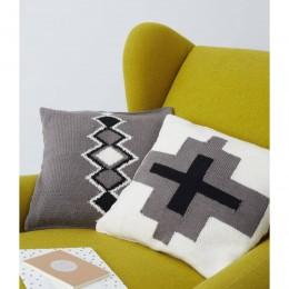 DB055 Aztec Cushions in Debbie Bliss Rialto DK
