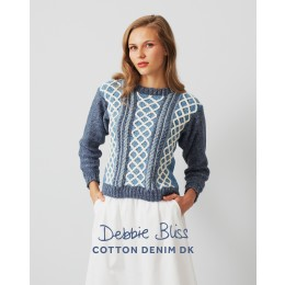 DB101 Women's Jumper in Debbie Bliss Cotton Denim DK