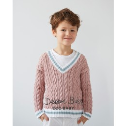 DB105 Children's Jumper in Debbie Bliss Eco Baby