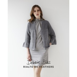 DB107 Cardigan for Women in Rialto DK Heathers