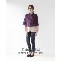 DB108 Cape for Women in Rialto DK Heathers