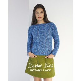 DB126 Debbie Bliss Jumper for Women in Botany Lace