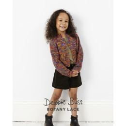 DB128 Debbie Bliss Child's Cardigan in Botany Lace