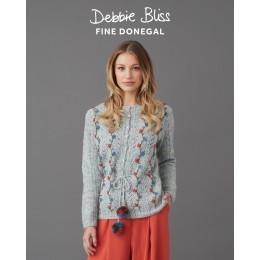 DB152 Cardigan for Women in Debbie Bliss Fine Donegal