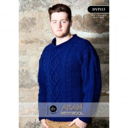 DYP113 Man's Jumper Aran with Wool