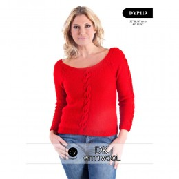 DYP119 Ladies Jumper DK with Wool