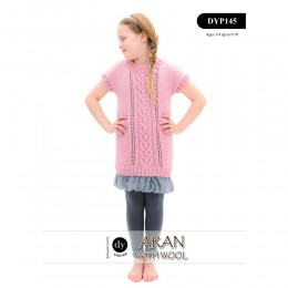 DYP145 Children's Jumper Aran with Wool
