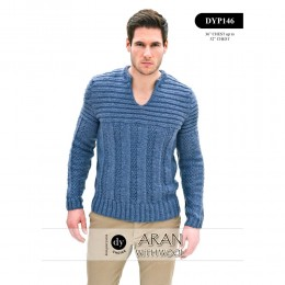 DYP146 Man's Jumper Aran with Wool