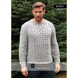 DYP212 Man's Jumper Aran with Wool