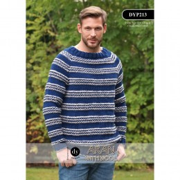 DYP213 Man's Jumper Aran with Wool