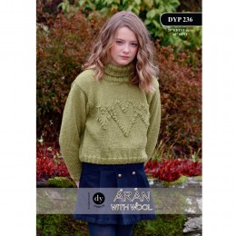 DYP 236 Ladies Jumper Aran with Wool