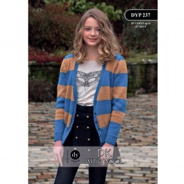 DYP 237 Ladies Cardigan DK with Wool