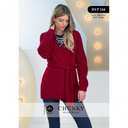 DYP 244 Ladies Jacket Chunky with Wool