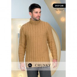 DYP 248 Man's Jumper Chunky with Wool