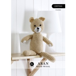 DYP310 Crochet Teddy in DY Choice Aran with Wool